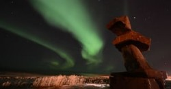 aurora+and+inukshook